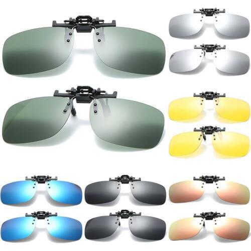 Flip Up Sonnenbrille Clip Polarisierte Brillenaufsatz Brillengläser Sportbrillen