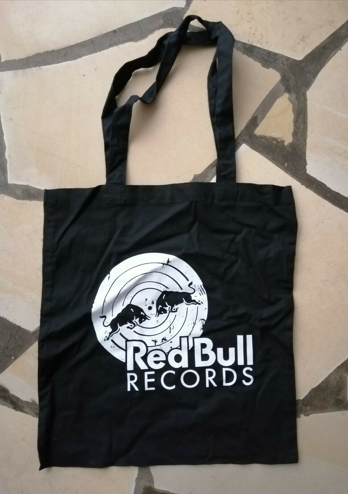 RED BULL tote bag Reusable shopping black purse music Energy drink Rare item!!