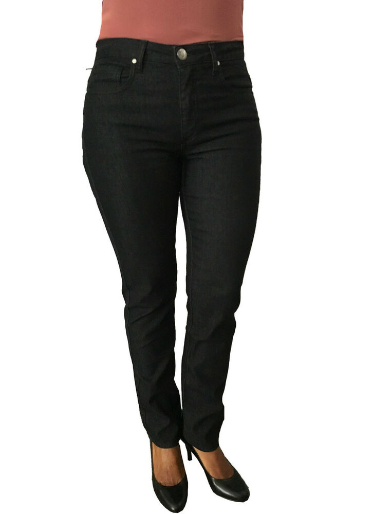 Blue Luxury Jeans Noir Femme Taille Haute Fond ) 17 Modèle Push-up Made In Italy