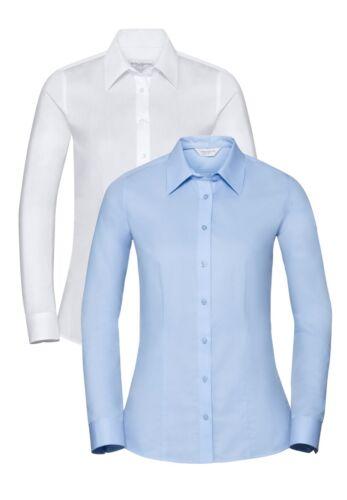 Da Russell Su Manica Misura Donna Blusa Coolmax Lunga Camicia Traspirante 5x71xaZ