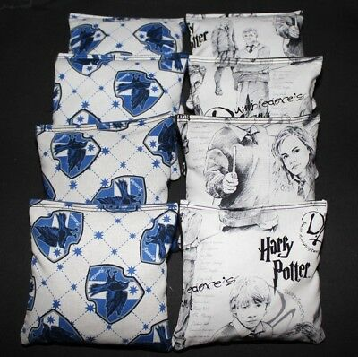 HARRY POTTER SORCERERS WIZARD made w fabric 8 Cornhole Bean Bags ACA Regulation