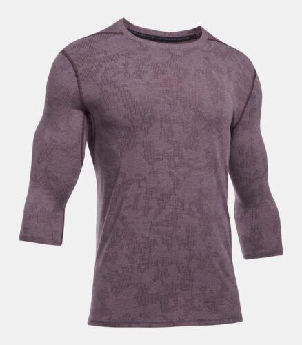 NWT Under Armour Men/'s Raisin Red Threadborne Utility 3//4 Sleeve T-Shirt 1305850