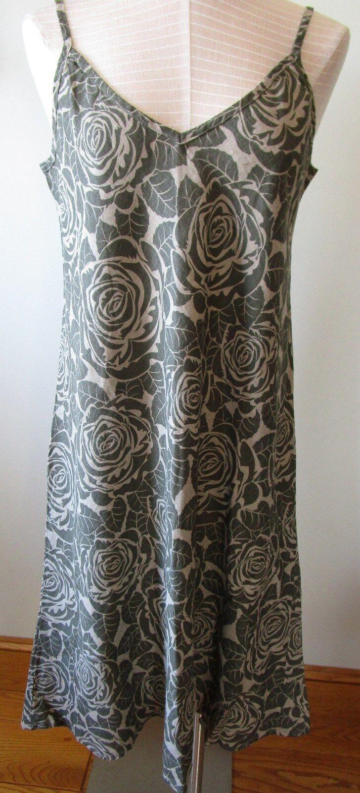 FLAX  Designs  Linen    Dress   L    NWOT  Bias TeA    NATURAL CLEARANCE