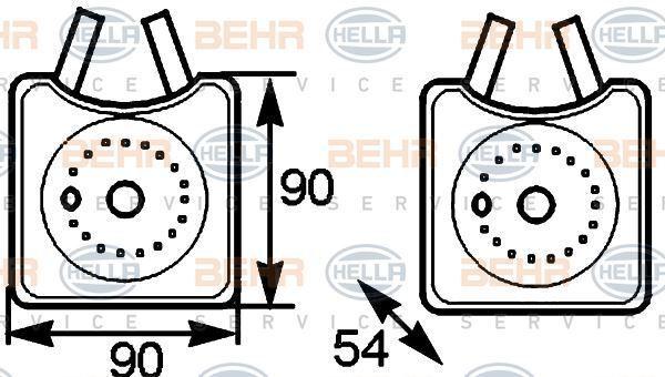 8MO 376 778-031 Hella Enfriador de Aceite Aceite Motor