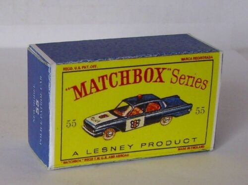 Repro box Matchbox 1:75 nº 55 police patrol car