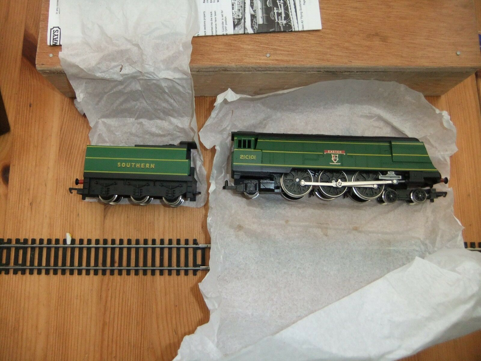 Hornby R320 West Country Class Loco 21C101 Exeter SR Green Limited Edition,  MIB