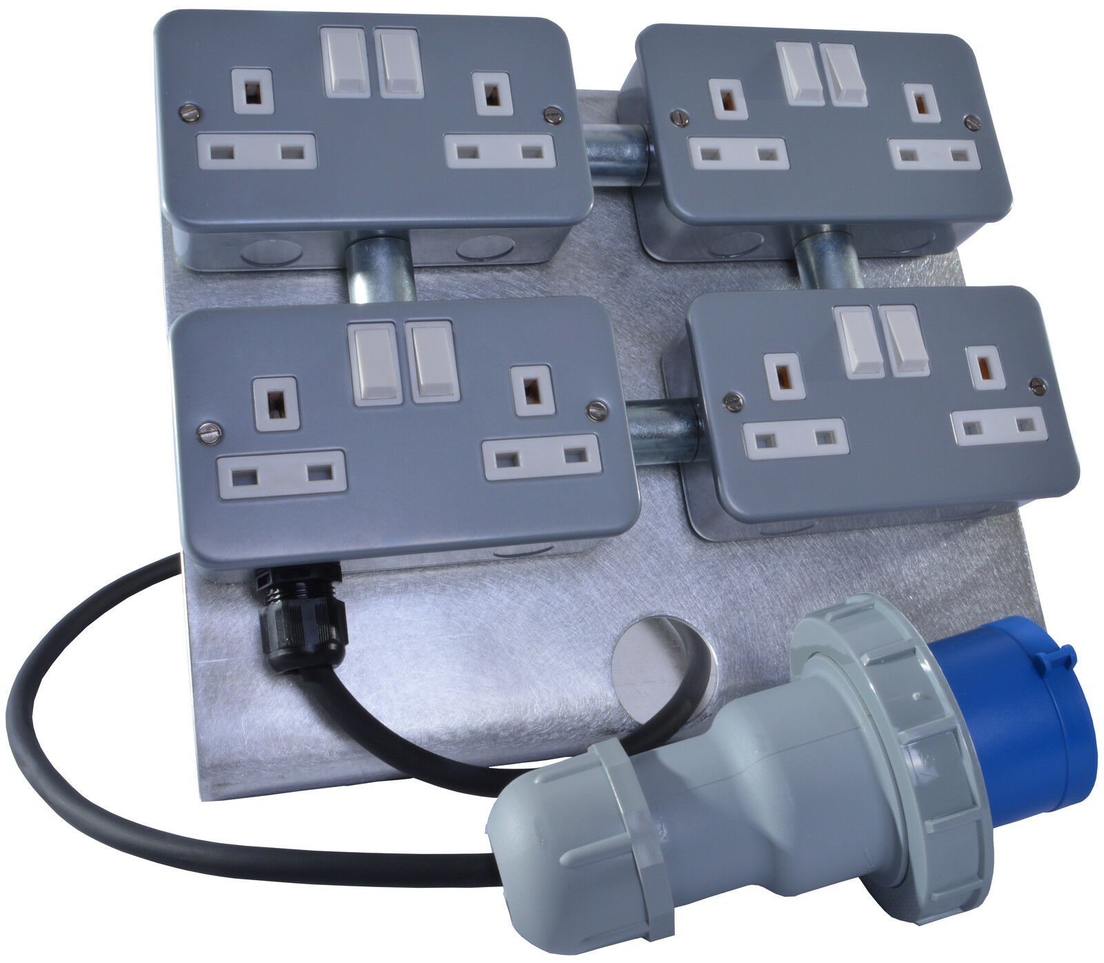 13 AMP 1x 2 Gang Marquee Power Adaptor 32 AMP Input Power Distribution Unit