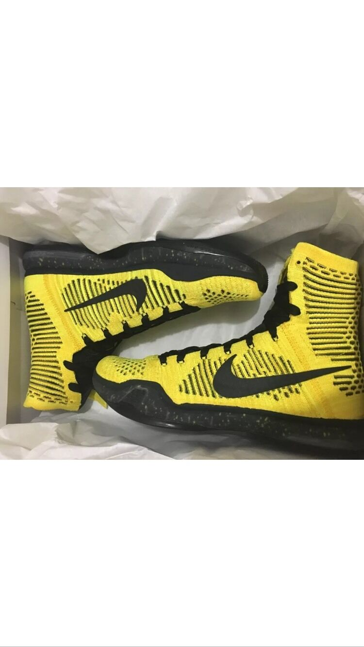 Nike Kobe X 10 High Elite High 10 CODA 802762 707 Tour Yellow Volt Black Size 11 9810ba
