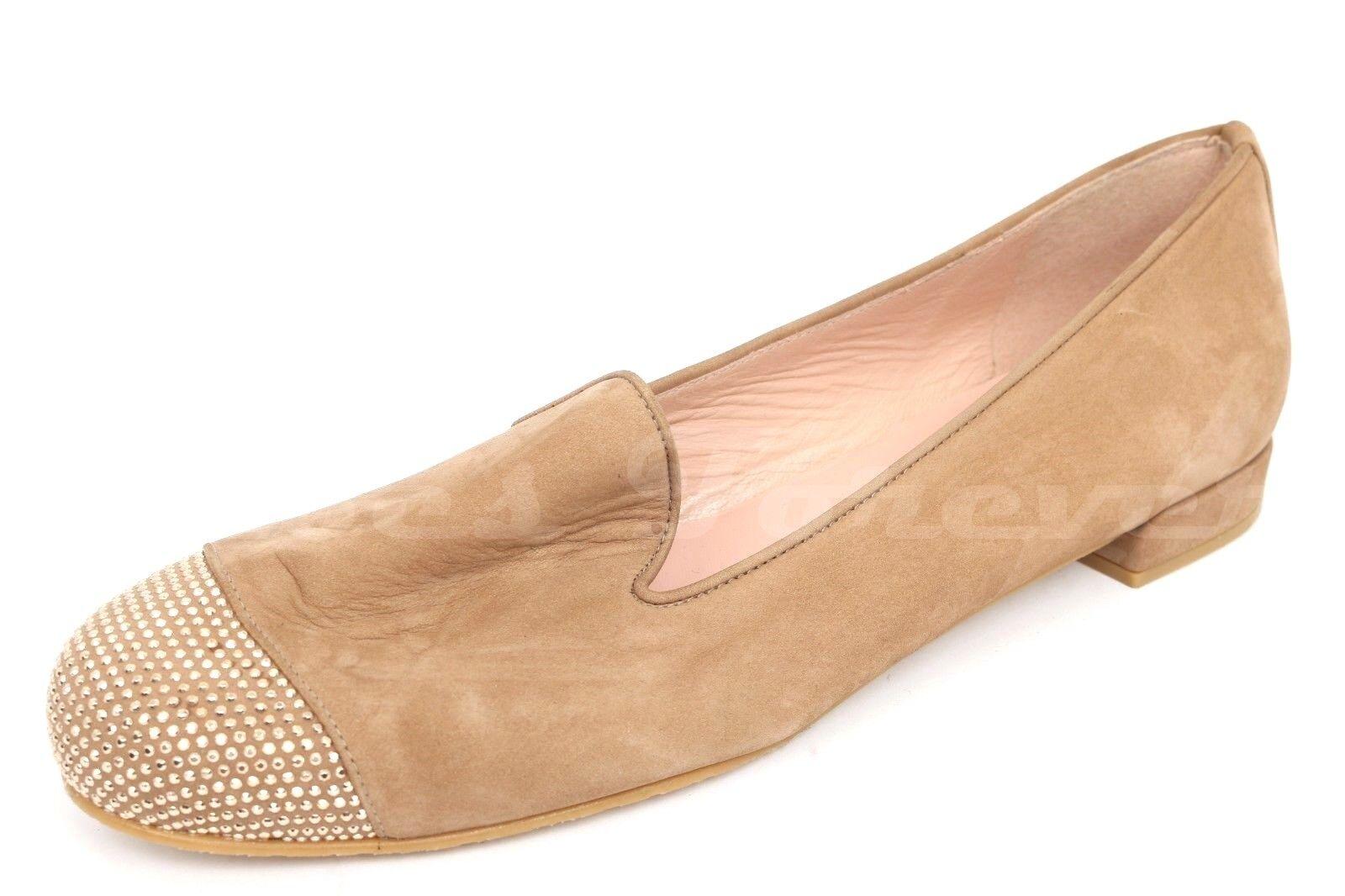 Stuart Weitzman Castaño de Puntera ante para mujer Puntera de zapatos talla 8  nuevo 6bb73d