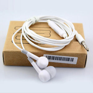 35mm InEar Earbud Mic Stereo Headset Earphones For Samsung HTC Android Phone BIN