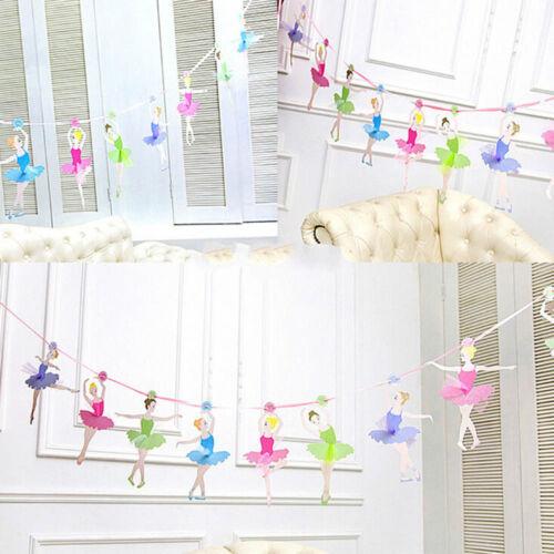 Mariage Papier Drapeaux Ballet Fille Fête Bunting Bannière Anniversaire Décorations de fête