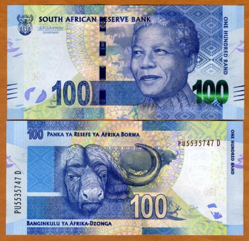 Sign 2015 P-141-New ND South Africa 100 rand Kganyago UNC /> Mandela