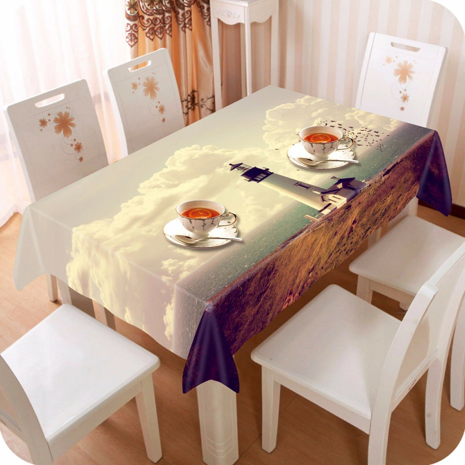 3D Tower 787 Tablecloth Table Cover Cloth Birthday Party Event AJ WALLPAPER AU