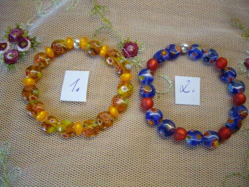 Bernsteinfarben //Gelb ca.14 cm je 2,95€ Mädchen Armband Milleflori Blau//Rot od