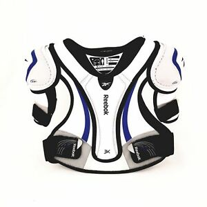 2468a2deccd Image is loading Reebok-3K-White-Edition-Shoulder-Pads-Junior