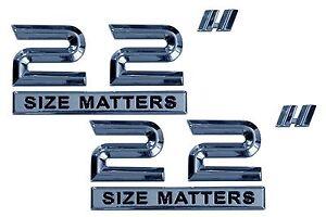 NEW Size Matters 20/'/' Ultra Adhesive Chrome Emblem Wheel Rim Set of 2