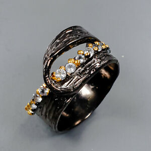 Fine Art Blue Topaz Ring Silver 925 Sterling  Size 7 /R154025