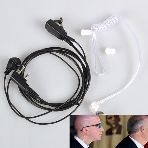 2 Pin Covert Acoustic Air Tube Earpiece Headset For Kenwood Walkie Talkie A79