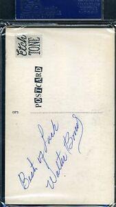 Walt-Bond-Rare-D-67-Psa-dna-Signed-Photo-Postcard-Authentic-Autograph
