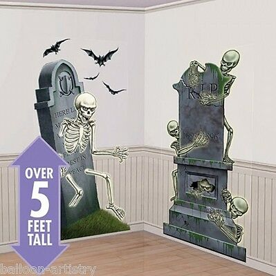 Scary Halloween Scene Setter Add On - Graveyard Raiders Skeleton Cemetary