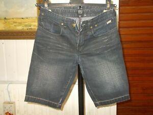 Short-bermuda-Jean-coton-bleu-fonce-delave-LEVIS-RED-TAB-12-ans-18aj31