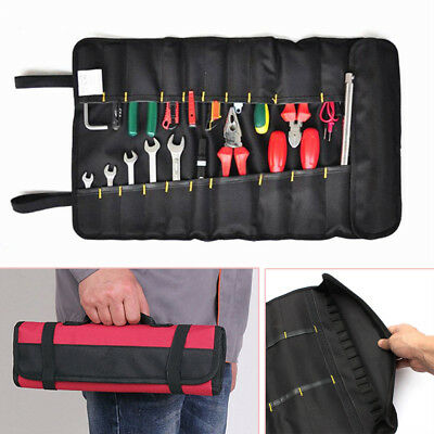 1 Piece Car Hardware Tool Roll Plier Screwdriver Spanner Case Pouch Red Tool Bag