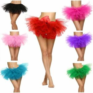 Sexy-Adult-Women-039-s-Classic-5-Layered-Tulle-Fancy-Ballet-Dress-Tutu-Skirts