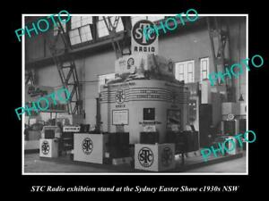 OLD-8x6-HISTORIC-PHOTO-OF-STC-RADIO-SHOW-DISPLAY-STAND-c1930s-SYDNEY-NSW