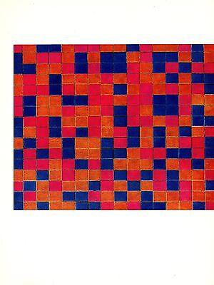 "1970 Vintage MONDRIAN /""COMPOSITION CHECKERBOARD DARK/"" COLOR offset Lithograph"