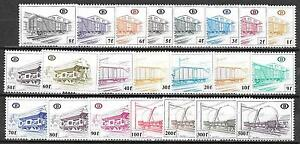Belgium stamps 1980 OBP SP433-SP454 TRAIN MNH VF
