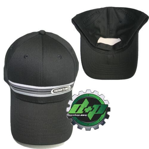 Freightliner Black Woven Stripe hat semi trucker base ball cap truck gear cat