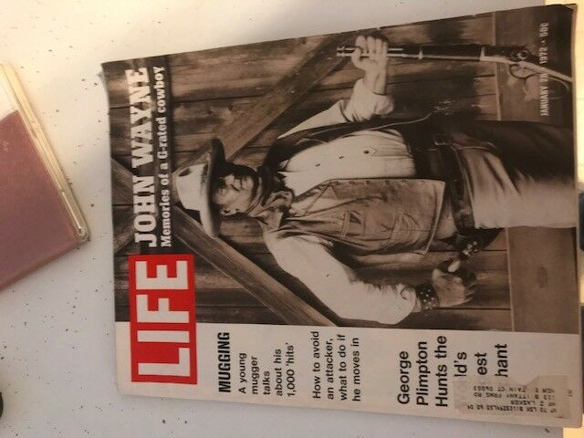 Life Magazine John Wayne Memories of a G-Rated  Cowboy January 28, 1972
