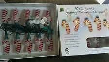Lot of 2 Boxes of 10 Candy Cane Indoor Christmas HOLIDAY lights 20 total lights