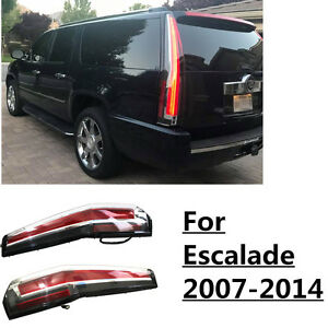 led tail lights for cadillac escalade 2007 2014 esv red