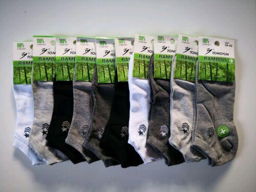 Herren Damen Socken Sport  Sneakers Füsslinge  Bambus 10 Paar NEU 39-42 17