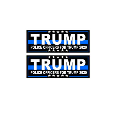 Trump STATE TROOPERS For Trump 2020 President Decal Bumper Sticker BLUE LINE