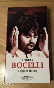 Andrea Bocelli A Night in Tuscany VHS Tape 1997 Sarah ...