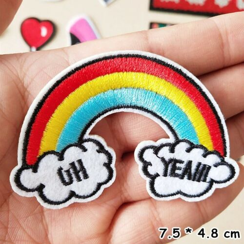 Embroidery Sew On Iron On Patch Clothes Badge Fabric Applique Craft Sticker DIY
