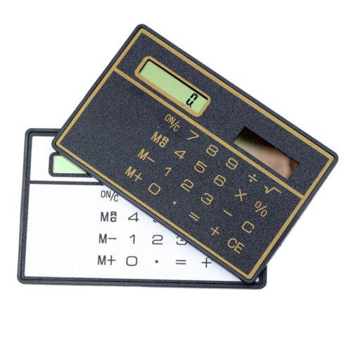Slim Digit Mini Credit Pocket Calculator Mini Calculator Card Size Solar Power