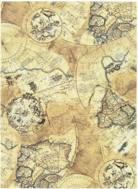 Rice Paper for Decoupage Scrapbooking Sheet Craft Vintage Old Map | eBay