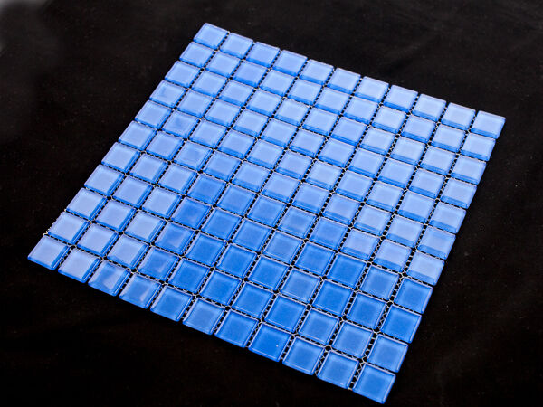 Blue Crystal glass mosaic tiles Pool Spa Waterline Feature walls - Bulk Buy Save
