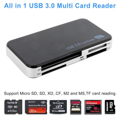 TPX USB 3.0 With Multi Card Reader CF Adapter Micro-SD MS XD 5Gbps
