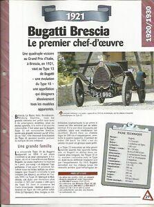 FICHE AUTOMOBILE - BUGATTI BRESCIA 1921 9s1SeX2V-09153525-380744366