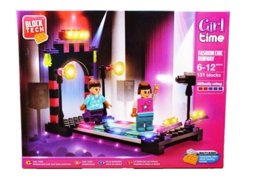 131 Blocks  Construction Toy Fashion Chic Runway Set Block Tech Girl Time