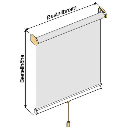Sichtschutzrollo Mittelzugrollo Mittelzugrollo Mittelzugrollo Springrollo Rollo - Höhe 190 cm creme | Auf Verkauf  51377d