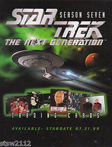 Star Trek Tng Season 7 Trading Card Set Non-sport Trading Cards