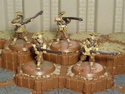 Heroscape 7 Free Ship Available Fields of Valor Ashigaru Harquebus Riflemen