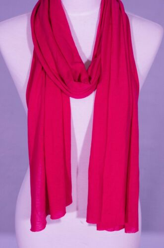 Fushia Red red color Plain scarf summer skinny scarf