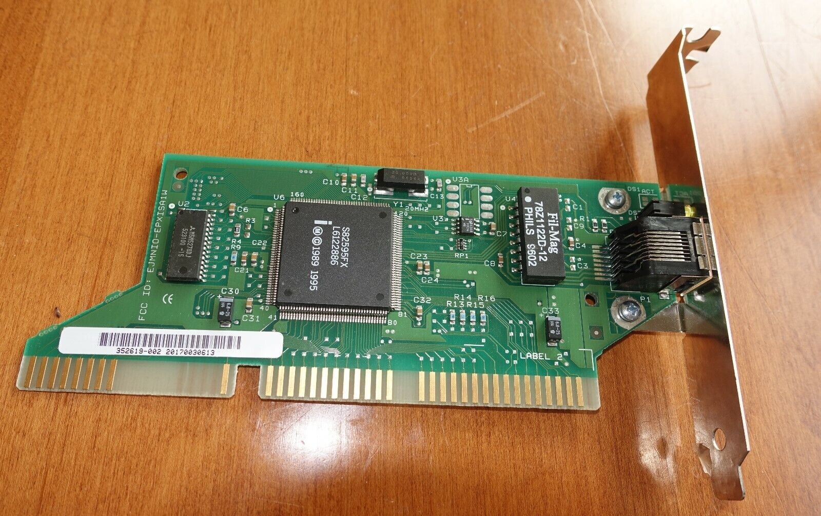 *VINTAGE* 1989 ISA 16 KALEX 352619-002 EJMNIO-EPXISA1W Network Card PC Ethernet