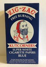 Zig-Zag Free Burning Kutcorner SuperWhite Blue Cigarette Rolling Paper24 Booklet